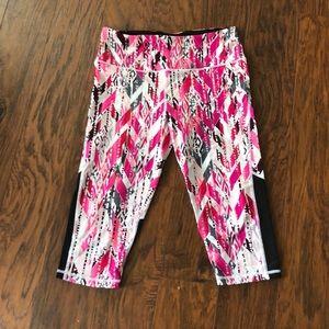 Pink Patterned Victoria's Secret Sport Cop Legging